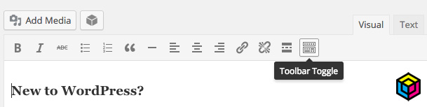 WordPress Tips - Toggle Toolbar