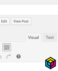 WordPress Tips - Visual and Text Tabs